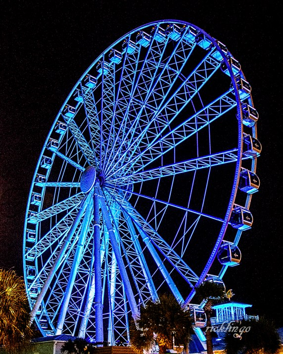 """Myrtle Beach, South Carolina. 3rd place award in """"City, Streets and Parks"""" for the day and 10th Place award in """"Best Blue"""" challenge on international website Pixoto."""
