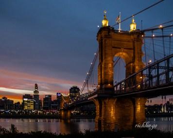 Sunset at the Suspension Bridge