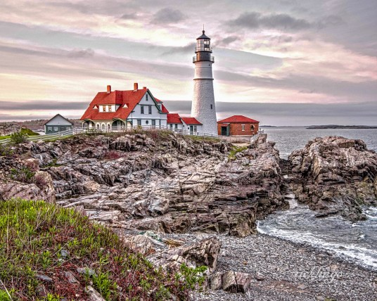 "Maine. 4th place award in ""Beautiful Lighthouses"" challenge on international website Pixoto."