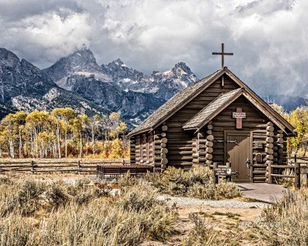 """Grand Teton National Park, Wyoming. 3rd place for the day in """"Buildings and Architecture"""" on international website Pixoto."""