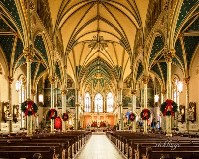 """Cathedral of St. John the Baptist, Savannah, Georgia. 2nd place award for the day in """"Buildings and Architecture"""" on international website Pixoto."""