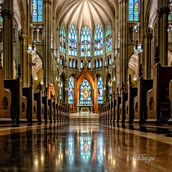 """Cathedral Basilica of the Assumption, Covington, Kentucky. 1st place for the month of February, 2019, in """"Buildings and Architecture"""" on international website Pixoto. Judge's Commendation in """"HDR Photography"""" on international website ViewBug. Mapleknoll Exhibition 2019."""