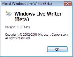 About Windows Live Writer