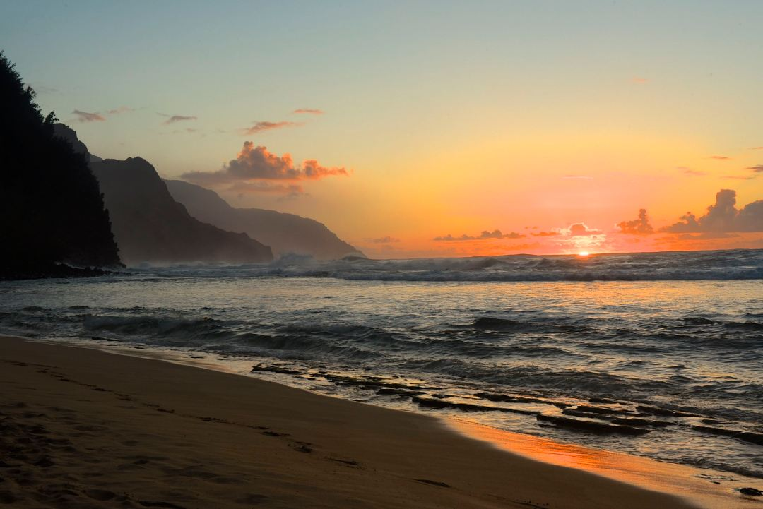 Ke'e Beach Sunset