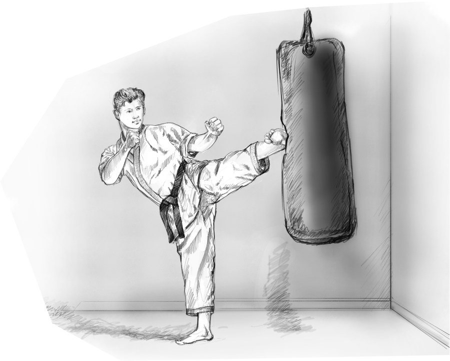 Bram and the Punching Bag