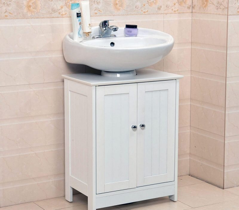 small pedestal sink storage