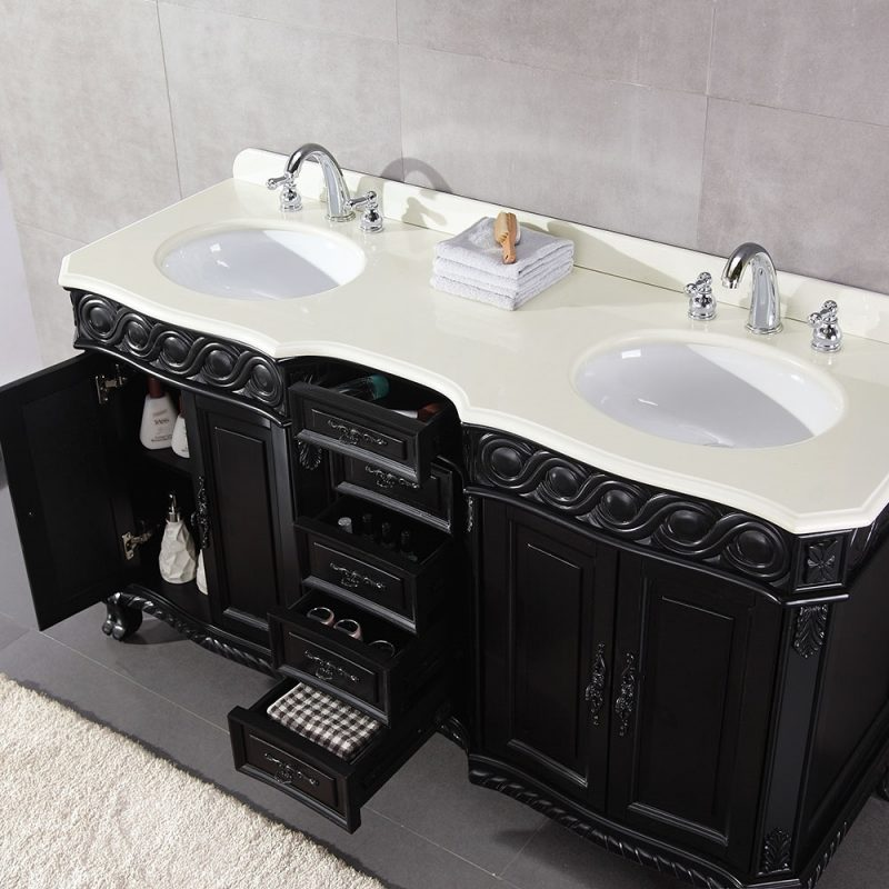 stunning black and white bathroom vanities double sink