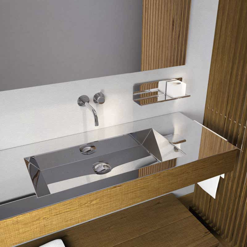 bathroom vanity with tops in a modern style