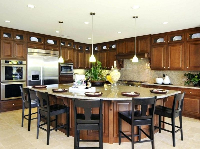 kitchen island layout examples
