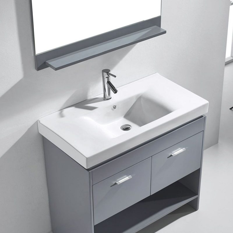 grey and white bathroom vanities single sink