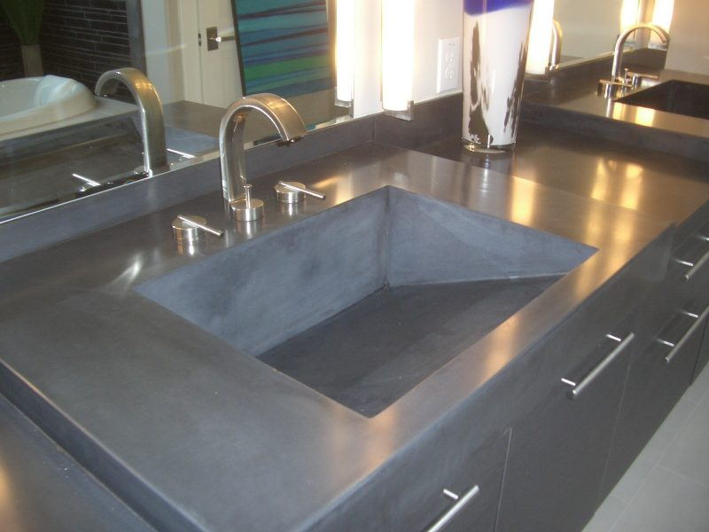 industrial look bathroom vanity with tops