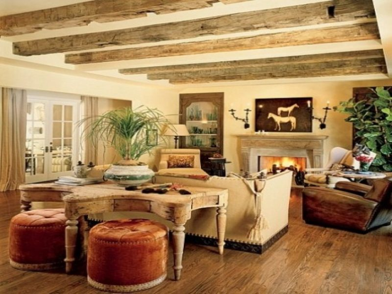 All Trendy Rustic Living Room Ideas