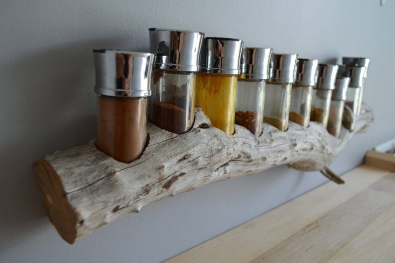 spice rack ideas using unused wood
