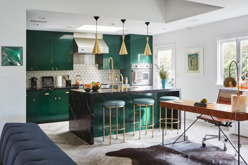 kitchen lighting ideas for matching the green emerald cabinet