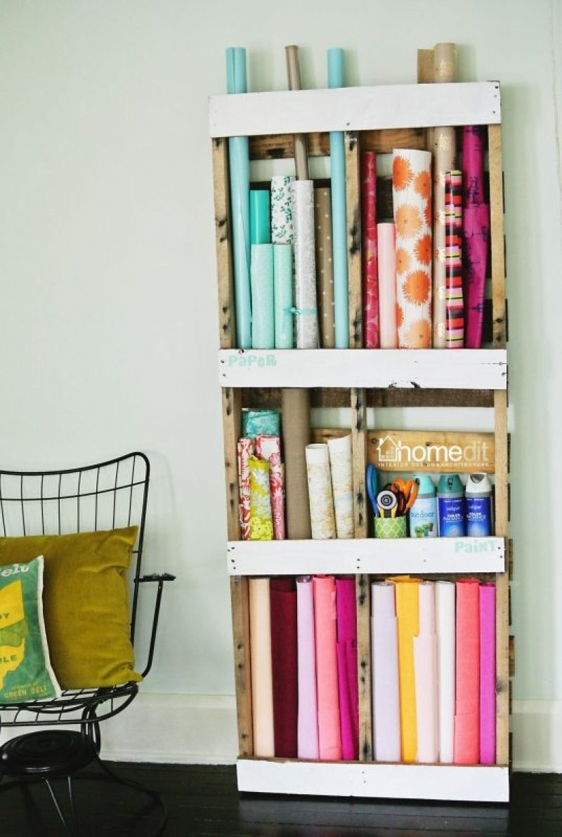 shelf with pallets