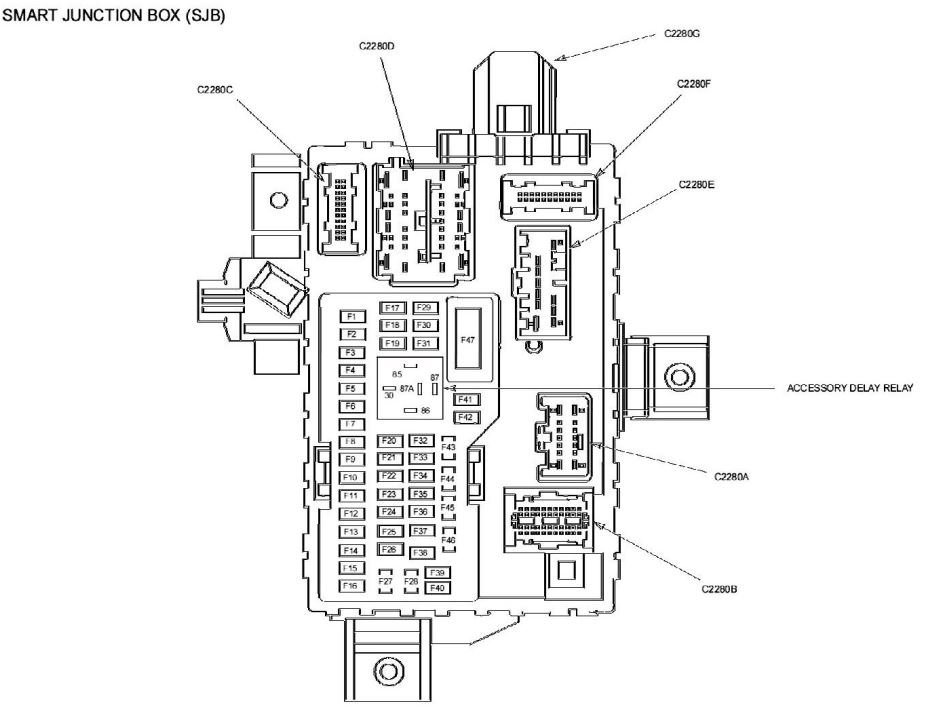 2010 Ford Fusion Se Interior Fuse Box Diagram