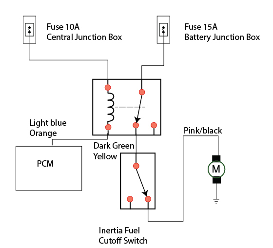 electric fuel pump relay wiring diagram  1968 falcon wiring