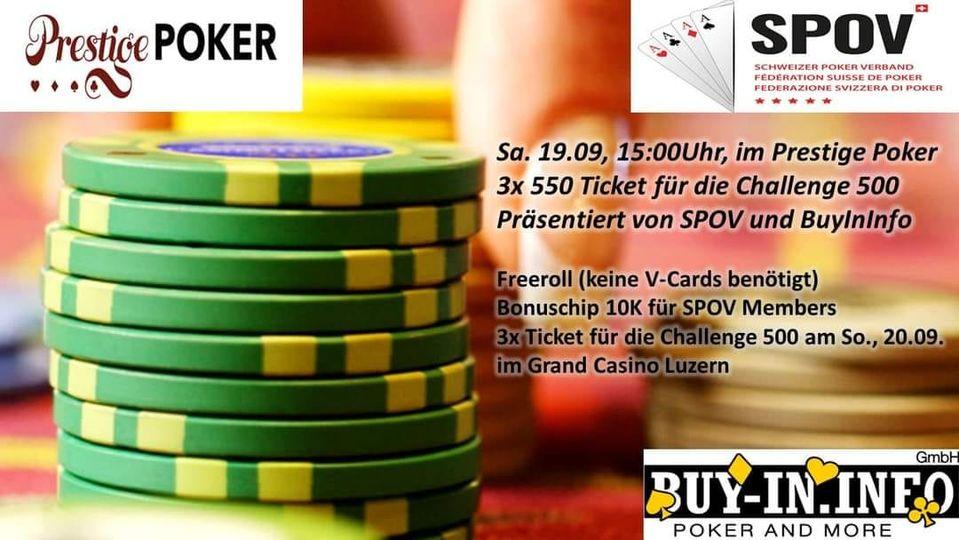 Bonus Chip SPOV Prestige Poker
