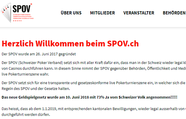 Schweizerische Pokerverband SPOV