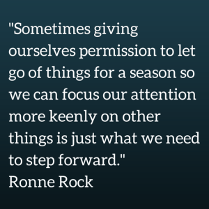 -Sometimes giving ourselves permission