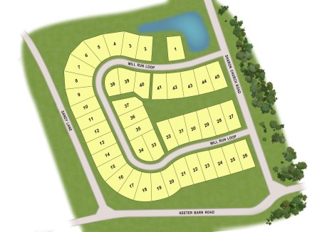 Mill Run South Mills Community Map QHOC New Homes