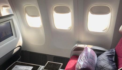 カタール航空ビジネスクラス 搭乗レポート[英会話付き] QR193 Boeing 777 ドーハ-ブリュッセル
