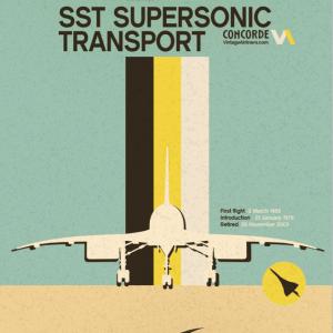 Concorde Retro-style Airline Poster – 11 x 17