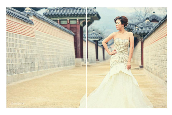 Fashion spread for WEDDINGKU Magazine at Seoul, South Korea