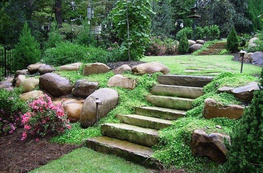 Landscaping Ideas Front Yard Hill — Rickyhil Outdoor Ideas on Backyard Hill Landscaping Ideas  id=84119