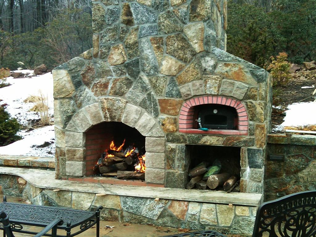 Excellent Outdoor Wood Burning Fireplace — Rickyhil ... on Small Outdoor Fireplace Ideas id=19481
