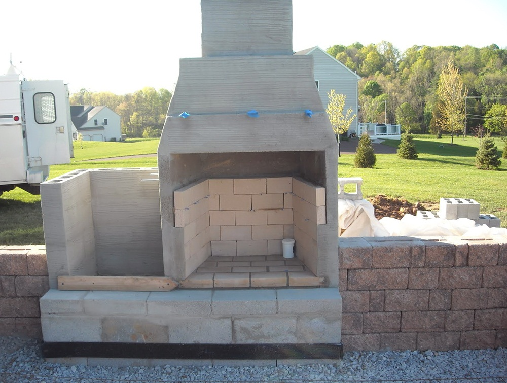 Ideas For Build Cinder Block Outdoor Fireplace — Rickyhil ... on Cinder Block Fireplace Diy  id=14483