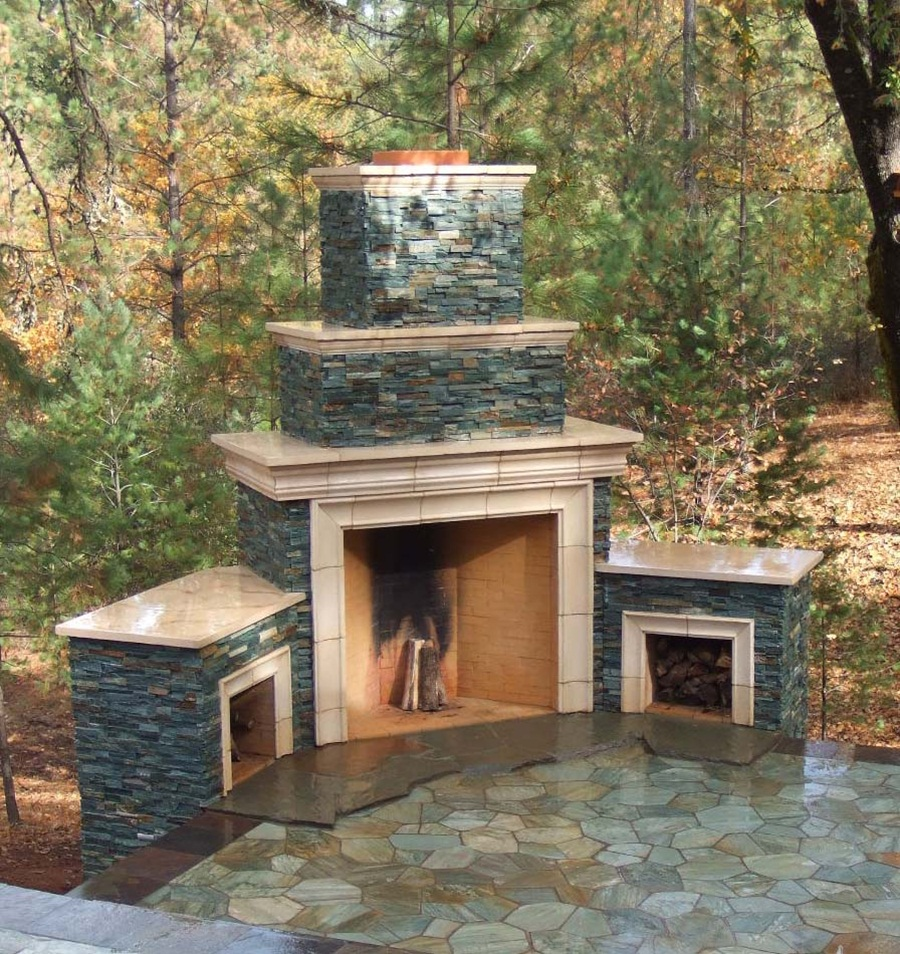 Ideas For Build Cinder Block Outdoor Fireplace — Rickyhil ... on Cinder Block Fireplace Diy  id=93827