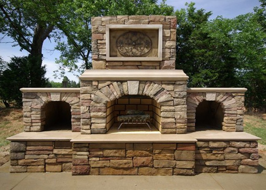 Ideas For Build Cinder Block Outdoor Fireplace — Rickyhil ... on Building Outdoor Fireplace With Cinder Block id=56639