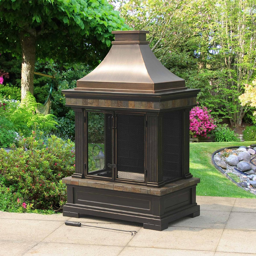 Affordable Outdoor Metal Fireplace — Rickyhil Outdoor Ideas on Quillen Steel Outdoor Fireplace id=18944