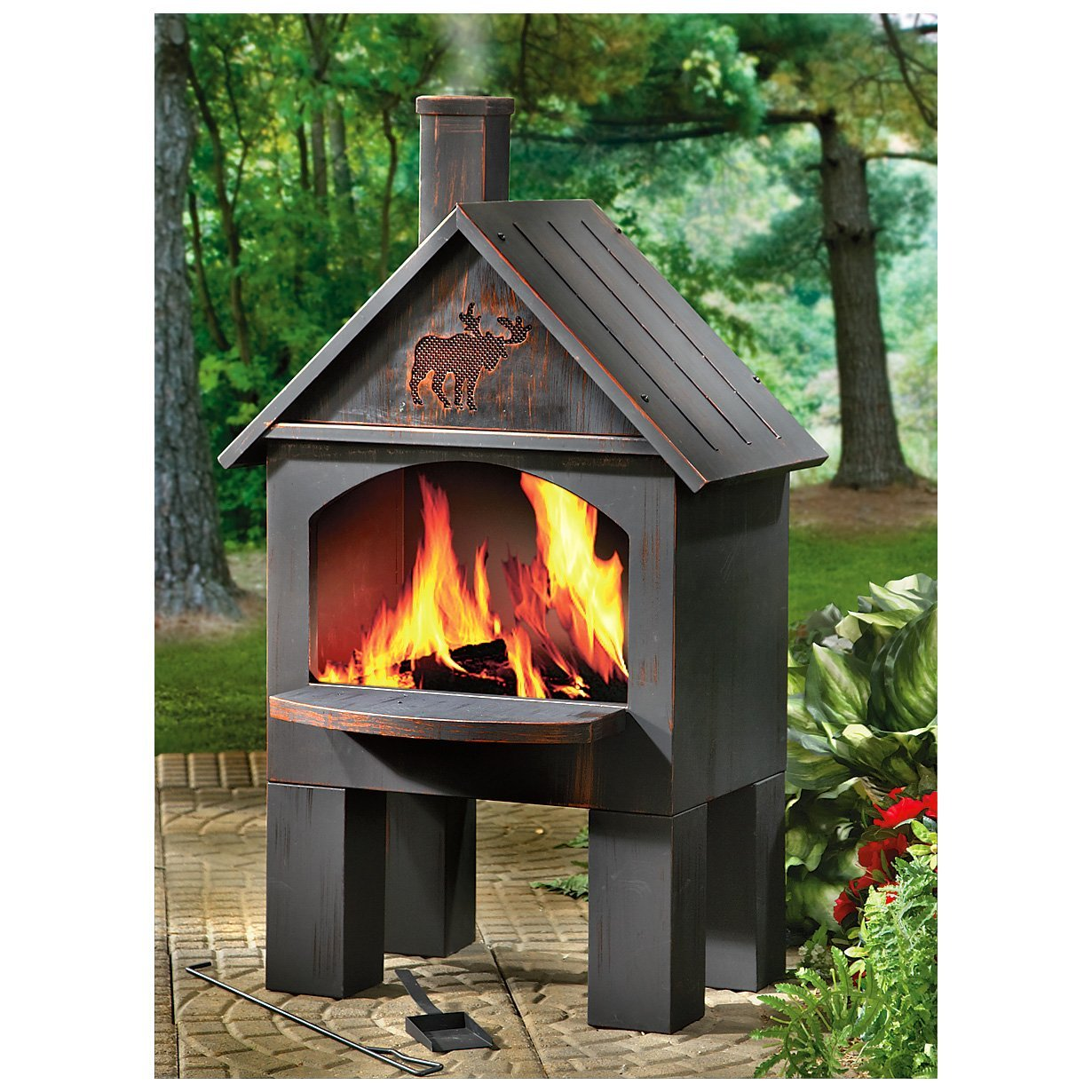 Affordable Outdoor Metal Fireplace — Rickyhil Outdoor Ideas on Quillen Steel Outdoor Fireplace id=35547