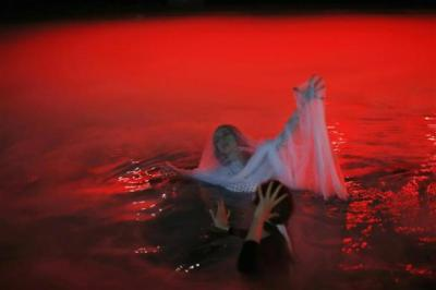"Smith floats in dry-ice filled swimming pool during rehearsal of Chicago Opera Theater's production of ""Orpheus & Euridice"" in Chicago"