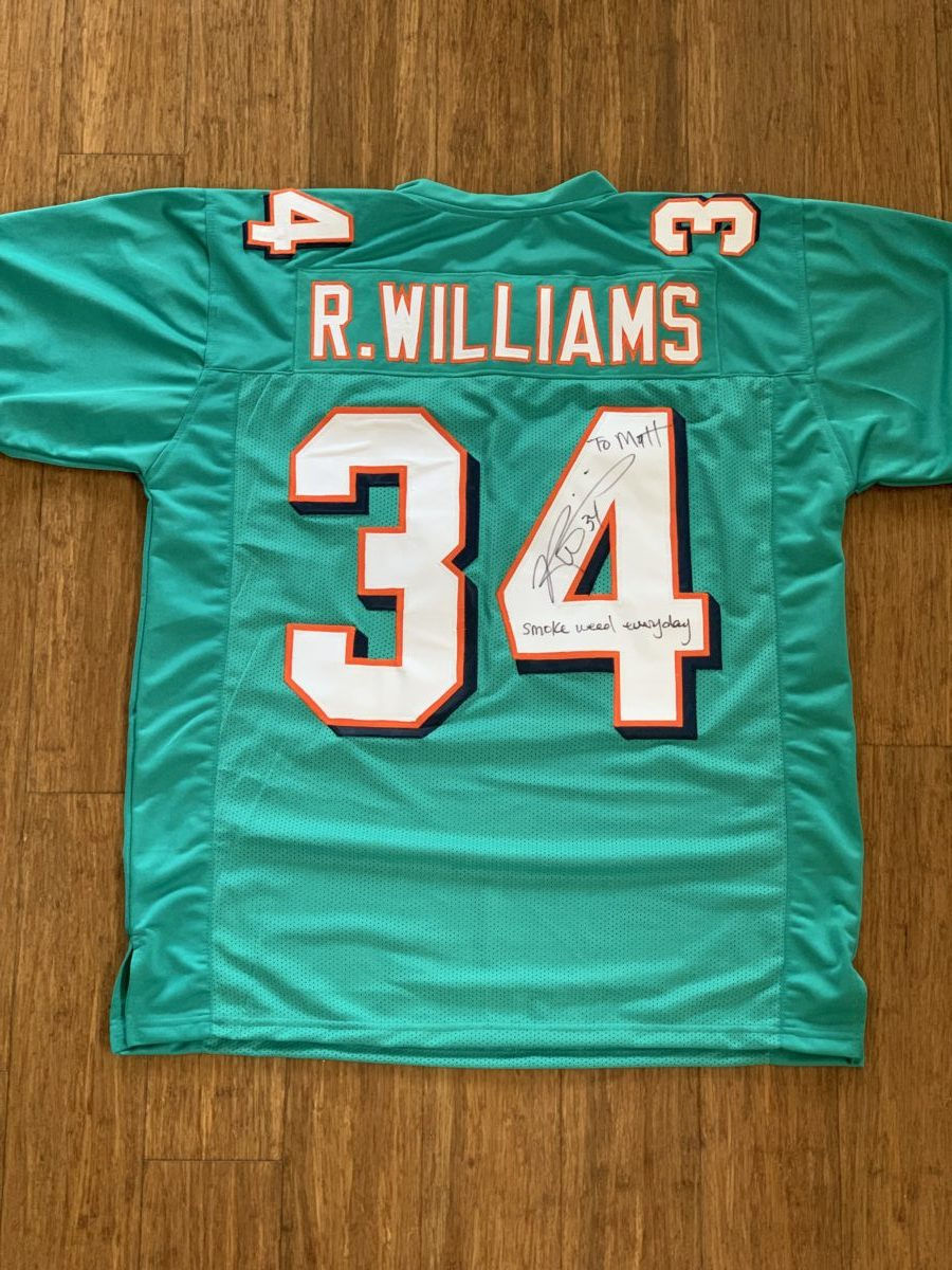 Personalized Miami Dolphins Jersey XL - Ricky Williams