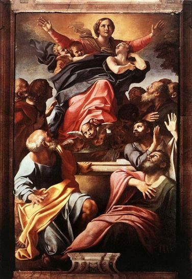 "Carracci's ""Assumption of the Virgin Mary"""