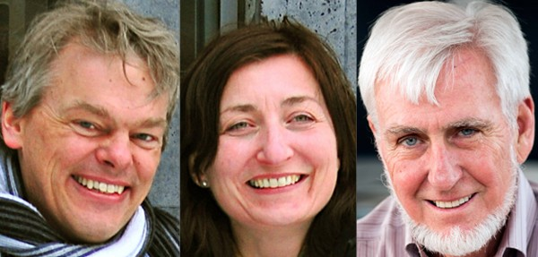 From left to right: Edvard Moser, May-Britt Moser, and John O'Keefe