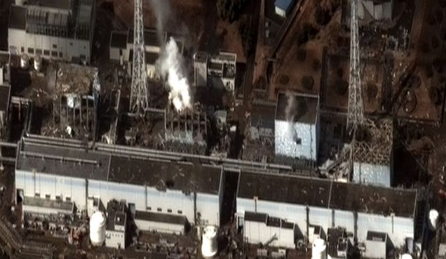 Fukushima reactor following the tsunamis.