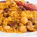 Arroz con magro y garbanzos