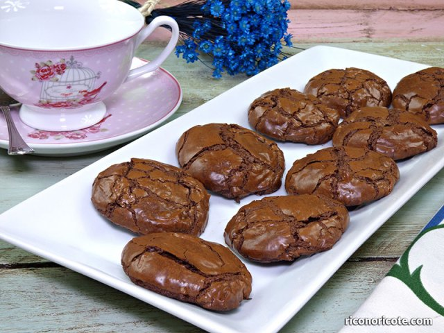 Galletas brownie de chocolate