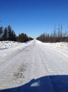 7. Fort Chipewan winter road