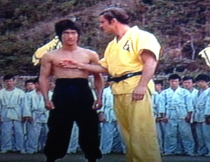 "John Saxon: ""I can take Bolo Yeung."" Bruce Lee:  ""Only in Hollywood."""