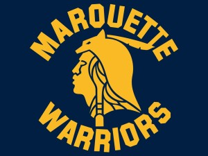 The Marquette Warriors logo from the early 1980's-1994, is the likeness of Mark Denning