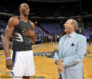 Rich DeVos and Dwight Howard