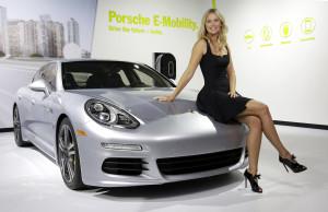 Maria Sharapova with Panamera S E-Hybrid