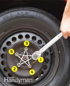 Good Idea: 5 Tightened Lug Nuts per Wheel