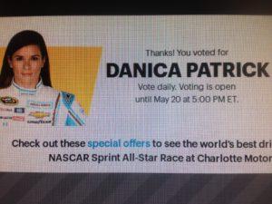 Vote Danica!