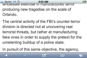 WSWS: FBI2